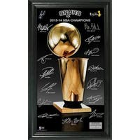 San Antonio Spurs 2014 NBA Finals Champions Trophy Signature Photo