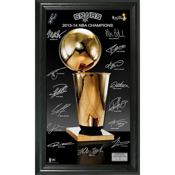Shop San Antonio Spurs 40 NBA Finals Champions Trophy Signature Custom Spurs Throw Blanket