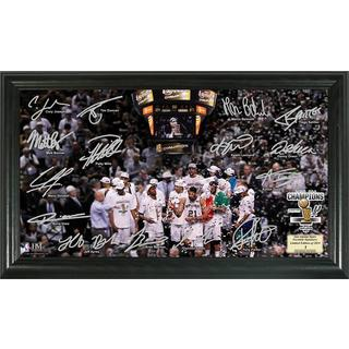 San Antonio Spurs 2014 NBA Finals Champions Celebration Signature Court Photo