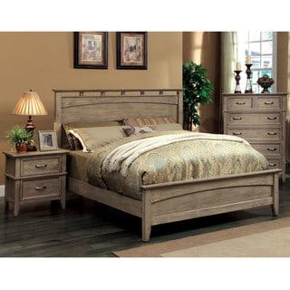 Furniture of America Seashore 3-Piece Weathered Oak Bed Set