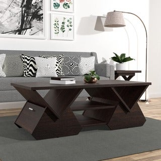 Furniture of America Melika Espresso Geometric Coffee Table