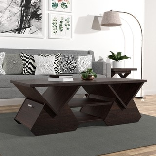 Furniture of America Fore Modern Espresso Geometric Coffee Table