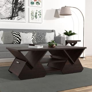 tables for the living room. Furniture of America Melika Espresso Geometric Coffee Table  Console Sofa End Tables For Less Overstock com