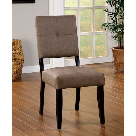 Furniture of America Yall Modern Taupe Fabric Dining Chairs Set of 2
