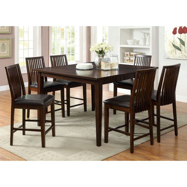 Furniture Of America Copter 7 Piece Counter Height Dining Set