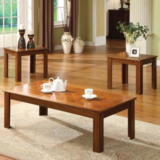 Furniture of America Gibbs 3-piece Bold Legged Accent Table Set