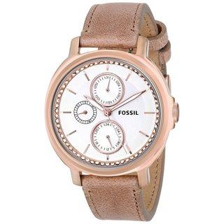 Fossil Women's ES3358 'Chelsey' Beige Leather Watch