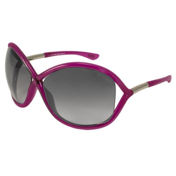 cda6650263 Tom Ford Women  x27 s TF9 Whitney 72B Shiny Pink Plastic Fashion Sunglasses