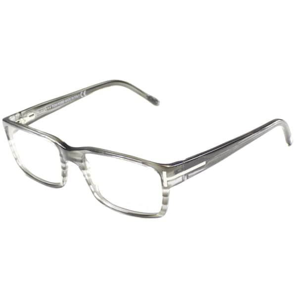90f4eb9572 Tom Ford Mens TF5013 FT5013 020 Striped Grey Rectangle Plastic Eyeglasses