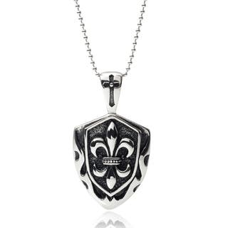 Vance Co. Men's Stainless Steel Fleur-de-lis Pendant|https://ak1.ostkcdn.com/images/products/9173021/Vance-Co.-Mens-Stainless-Steel-Fleur-de-lis-Pendant-P16349349.jpg?impolicy=medium