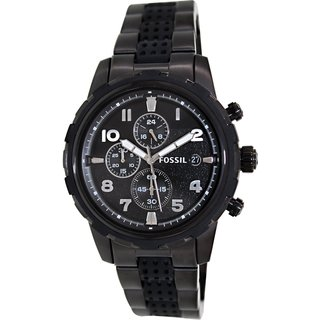 Fossil Men's FS4904 'Dean' Black Stainless Steel Watch
