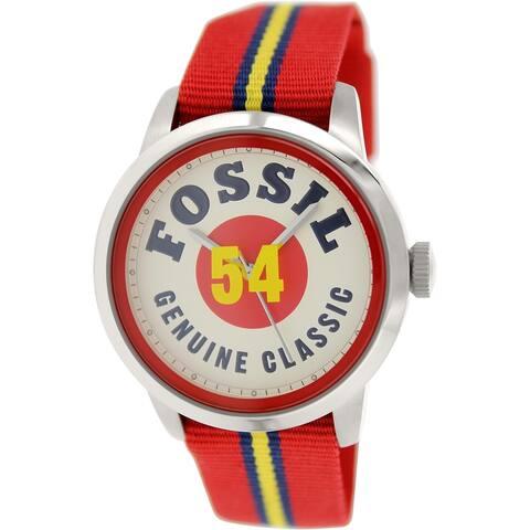 Fossil Men's FS4922 'Townsman' Red Nylon Watch