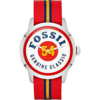 Fossil Men's FS4922 'Townsman' Red Nylon Watch