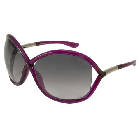 Tom Ford Women's TF9 Whitney 01D Black Polarized Fashion Sunglasses