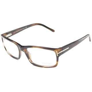 Tom Ford Mens TF5013 FT5013 052 Striped Brown Rectangle Plastic Eyeglasses