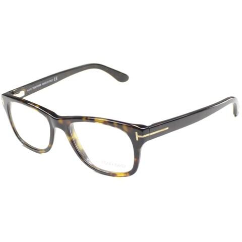 Tom Ford Unisex TF5147 FT5147 052 Dark Havana Rectangle Plastic Eyeglasses