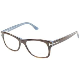 Tom Ford Unisex TF5147 FT5147 056 Brown Blue Rectangle Plastic Eyeglasses