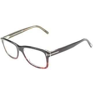 Tom Ford Men's TF5163 FT5163 56A Havana Black Rectangle Plastic Eyeglasses