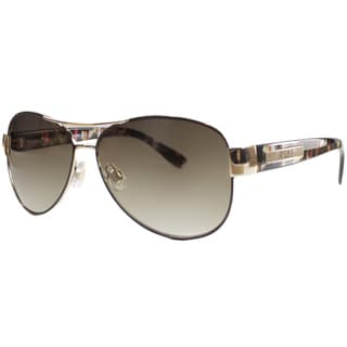 US Polo Association Unisex Aspen Tortoise and Gold Metal Aviator Sunglasses
