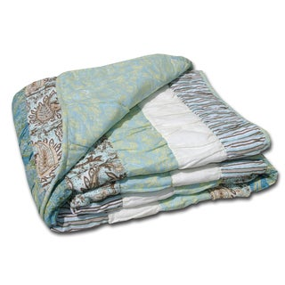 Greenland Home Fashions Paradise Cotton Quiltied Throw