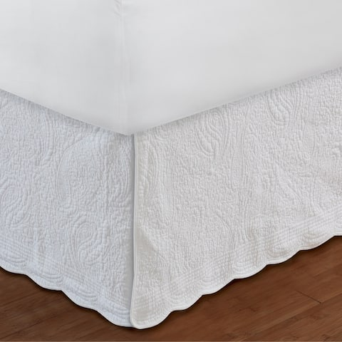 Greenland Home Fashions Paisley Quilted 18-inch Drop Bedskirt