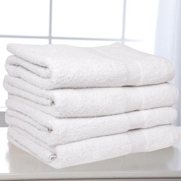 Solid White 100-percent Cotton Soft Bath Towels (Set of 4)