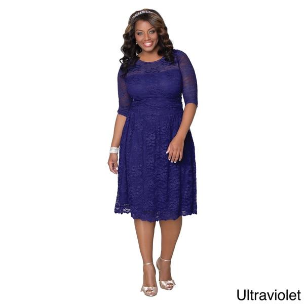 266cf67cac4 Shop Kiyonna Women s Plus Scalloped Luna Lace Dress - Free Shipping ...
