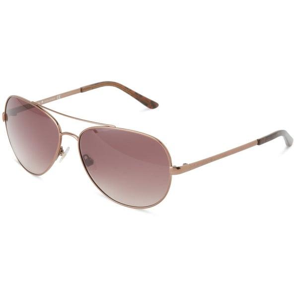 631c03571dc48 Shop Kate Spade Women s Avaline 0P40 Brown Aviator Metal Sunglasses ...