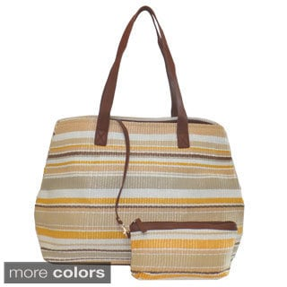 Lithyc 'Juquei' Oversized Beach Tote with Attaching Pouch