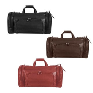 2-in-1 Leather Duffel Bag Backpack