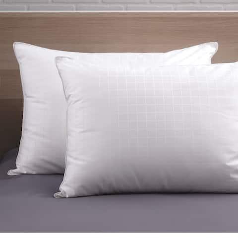 CozyClouds Plush Perfect Down Alternative Fiber Pillow (Set of 2) - White