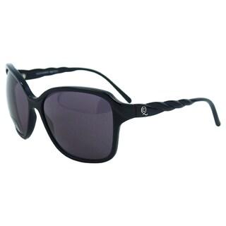 Alexander McQueen Women's AMQ 4149/S 807BN Black Plastic Oversized Sunglasses