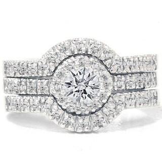 14k White Gold 1 1/4ct TDW Diamond Halo Bridal Ring Set|https://ak1.ostkcdn.com/images/products/9173326/P16349632.jpg?_ostk_perf_=percv&impolicy=medium