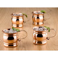 Old Dutch Solid Copper16 oz. Unlined Pub Style Moscow Mule Mugs (Set of 4)