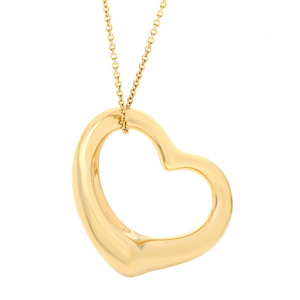 3658ab12d Shop Tiffany & Co 18k Yellow Gold Elsa Peretti Open Heart Necklace ...