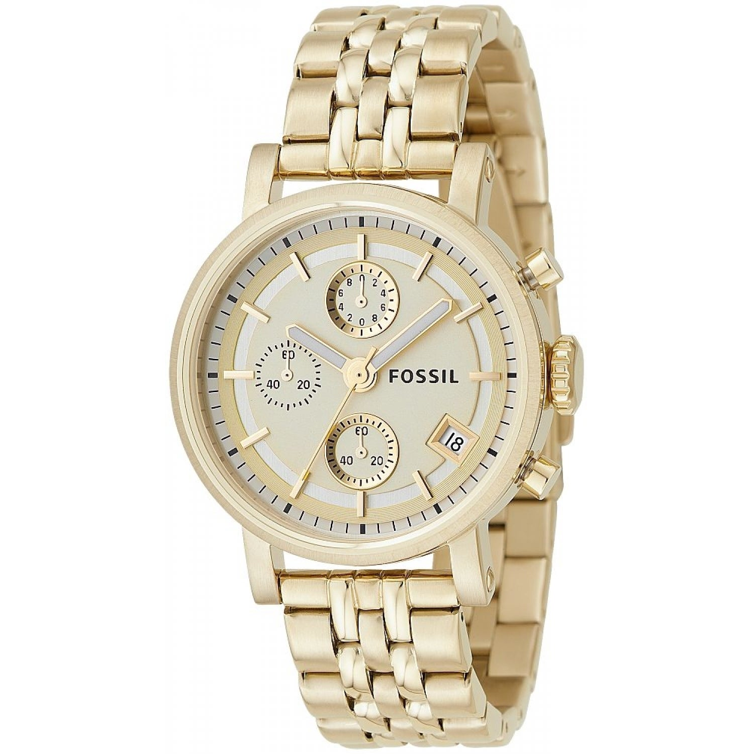 Fossil ES2197 Goldtone Chronograph Watch (Fossil Unisex E...
