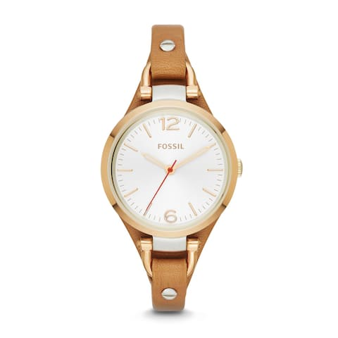 Fossil Women's ES3565 Georgia Analog Display Analog Quartz Brown Watch - Gold