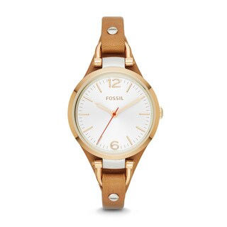 Fossil Women's ES3565 Georgia Analog Display Analog Quartz Brown Watch