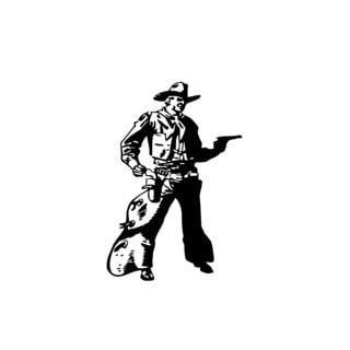 Wild West Cowboy Vinyl Wall Art