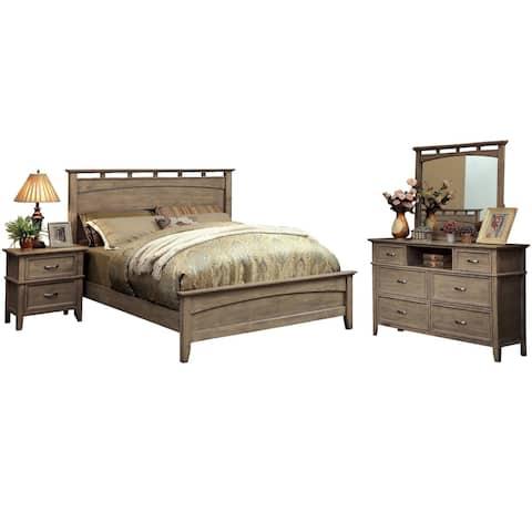 Furniture of America Reas Transitional Oak 4-piece Bedroom Set