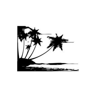 Island Beach Landscape Vinyl Wall Art
