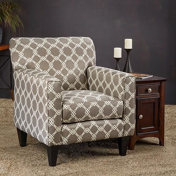 Shop Somette Eli Metro Grey Fabric Track Arm Accent Club Chair