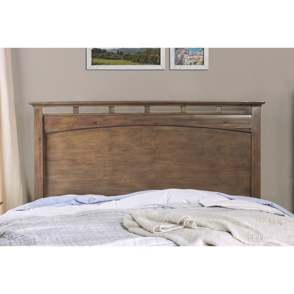 Furniture Of America Seashore Weathered Oak Platform Bed   Free Shipping  Today   Overstock.com   16349786