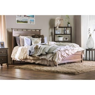 Furniture of America Seashore Weathered Oak Platform Bed