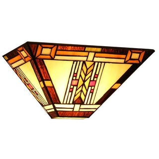 Tiffany-style Mission Design 1-light Wall Sconce