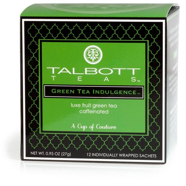 Talbott Green Tea Indulgence Sachet (Case of 6)