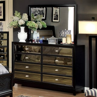 Furniture of America Drago Contemporary 2-piece Dresser and Mirror Set