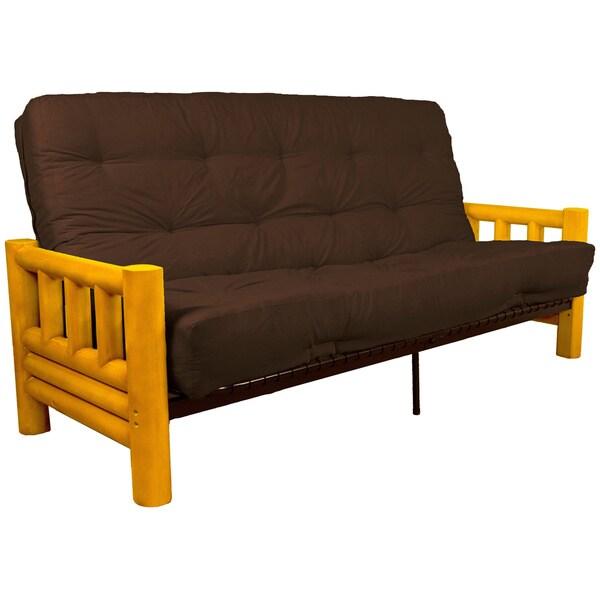 yosemite rustic lodge frame inner spring futon mattress set free shipping today overstock. Black Bedroom Furniture Sets. Home Design Ideas
