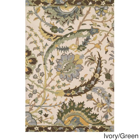 Hand-hooked Tessa Floral Multi Rug (5'0 x 7'6)