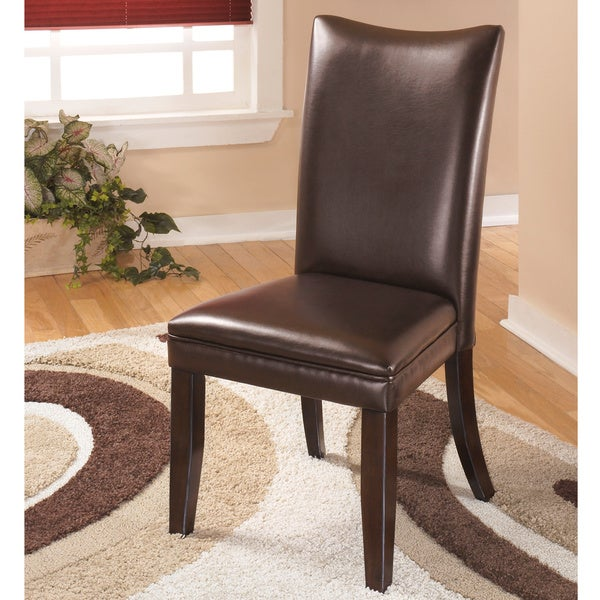 Shop Dining Room Chairs: Shop Signature Designs By Ashley Charrell Brown Leather